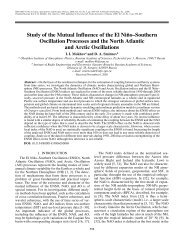 Study of the Mutual Influence of the El Niño–Southern Oscillation ...