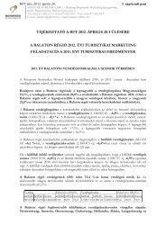 tájékoztató a bft 2012. április 20-i ülésére a balaton régió 2012. évi ...