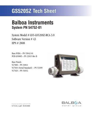 54752-01, GS5-GS520SZ-RCA-3.0 - Balboa Direct