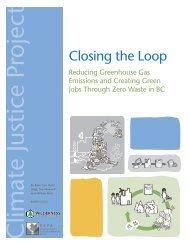 Closing the Loop - Canadian Centre for Policy Alternatives