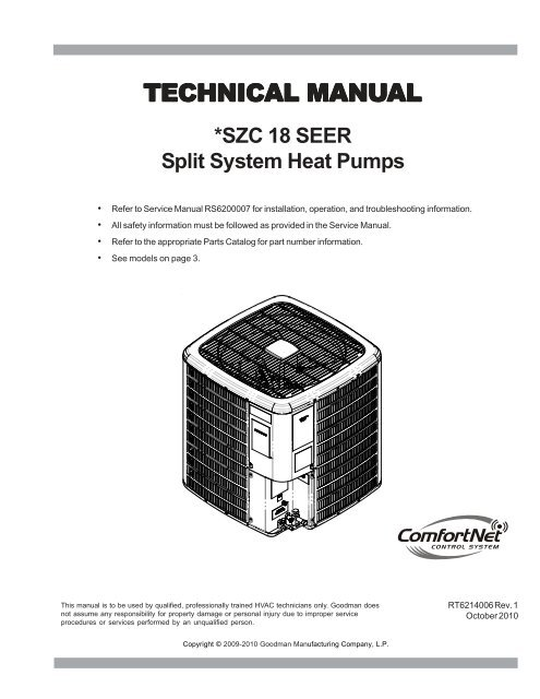 Tech Manual - Goodman