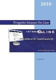 Manuale per la registrazione a Istanze on line - Gilda Napoli