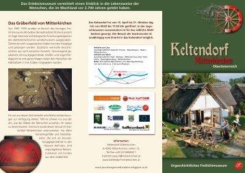 können Sie den aktuellen Folder des Keltendorfes herunterladen!