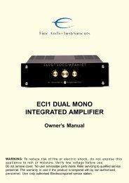 ECI1 DUAL MONO INTEGRATED AMPLIFIER - Electrocompaniet