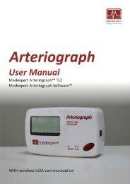 Medexpert Arteriograph IrDA - User Manual