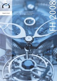 Rapport d'activité 2008 - Federation of the Swiss Watch Industry FH