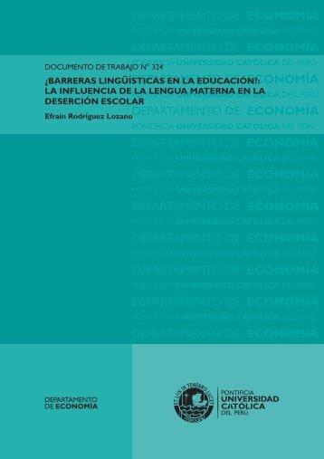¿Barreras Lingüísticas en la Educación? - Pontificia universidad ...