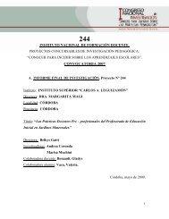 244 - Cedoc - Instituto Nacional de Formación Docente