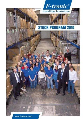 STOCK PROGRAM 2010 - F-tronic