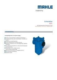 Einfachfilter EG1 - MAHLE Industry - Filtration