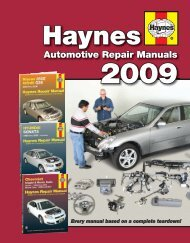 Automotive Repair Manuals - Haynes Repair Manuals