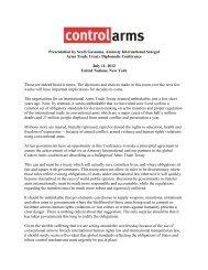 Presentation by Seydi Gassama, Amnesty ... - Control Arms