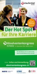 absolventenkongress.ch Der Hot Spot - Institute for Entrepreneurship
