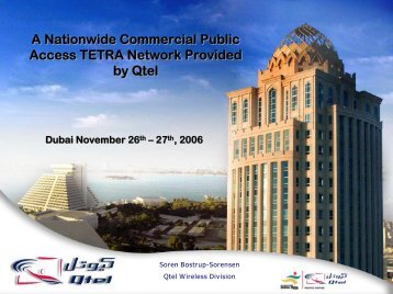 A Nationwide Commercial Public Access TETRA Network Provided ...
