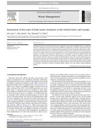 Assessment of the state of food waste treatment in the United States ...