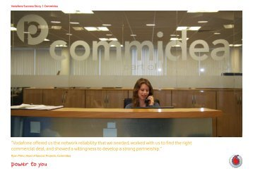 """""""Vodafone offered us the network reliability that we needed, worked ..."""