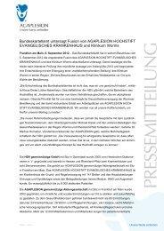 Bundeskartellamt untersagt Fusion von AGAPLESION HOCHSTIFT ...
