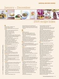 January – December 2005 recipe index - Taste