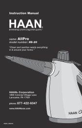 HAAN AllPro Color: Red User Manual