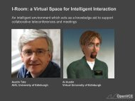 I-Room: a Virtual Space for Intelligent Interaction - University of ...