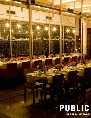 event spaces - PUBLIC Restaurant