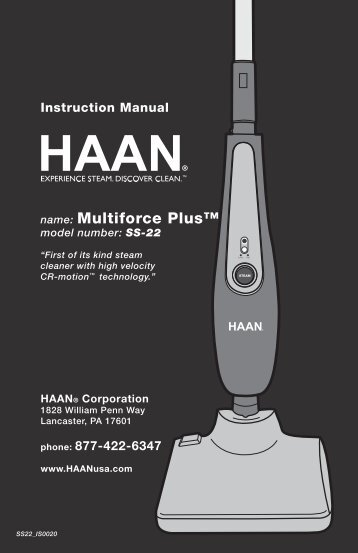 SS22A - HAAN Multiforce Plus User Manual