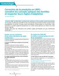 Correction de la presbytie en LRPG : connaître les ... - Contacto.fr