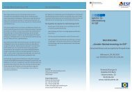 Programm der Fachtagung - Agentur für Gleichstellung im ESF