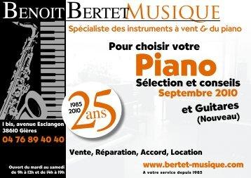 Concerts L' Espace - Bertet Musique
