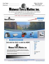 Here - Midwest Tire & Muffler, Inc.