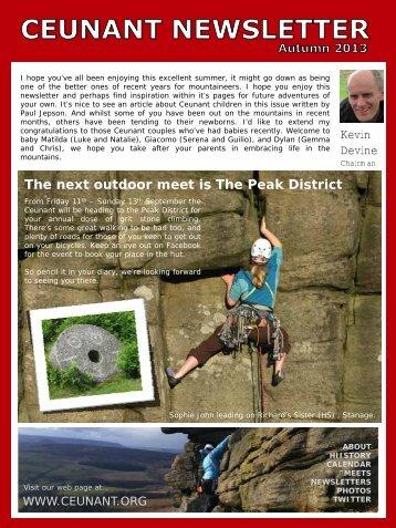 Autumn 2013 - Ceunant Mountaineering Club