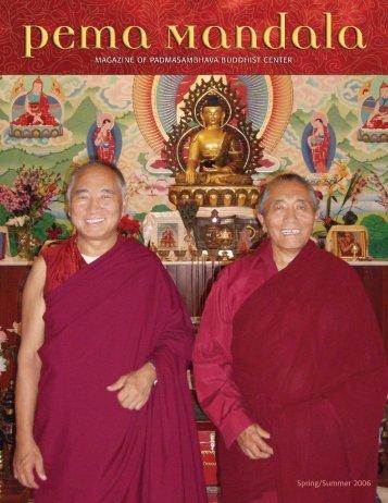 4 Pema Mandala Spring 06 - Padmasambhava Buddhist Center