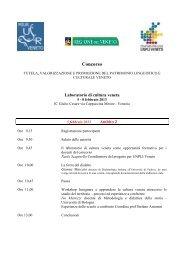programma delle giornate - UNPLI Veneto