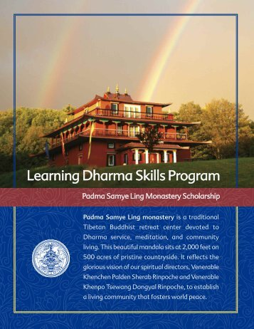 Program Brochure - Padmasambhava Buddhist Center