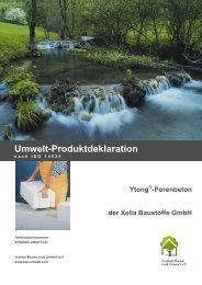 Umwelt-Produktdeklaration - Ytong