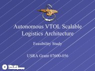 Autonomous VTOL Scalable Logistics Architecture - NASA's Institute ...