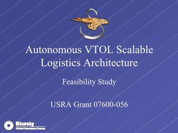 Autonomous VTOL Scalable Logistics Architecture - NASA's Institute ...