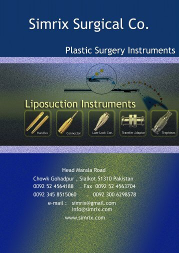 Plastic Surgery / Liposuction Cannula
