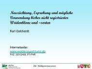 Gebhardt, K.: Neuzüchtung und Erprobung bisher nicht ... - FastWOOD