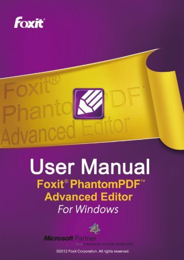 Foxit PhantomPDF Advanced Editor