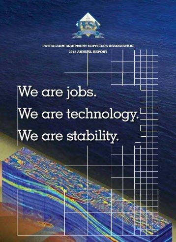 2012 PESA Annual Report - Petroleum Equipment Suppliers ...