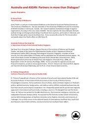 See full speaker bios [PDF] - Asialink - University of Melbourne