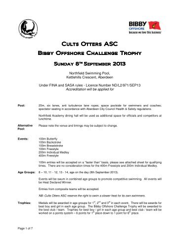 Cults Otter Bibby Offshore Challenge - Swim Scotland