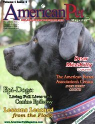 Volume 1 Issue 4 Merican Et - American Pet Magazine ...