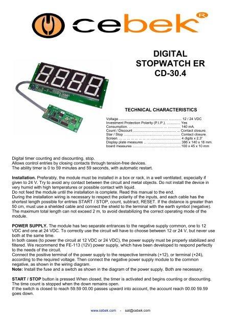 DIGITAL STOPWATCH ER CD-30 4 - Fadisel