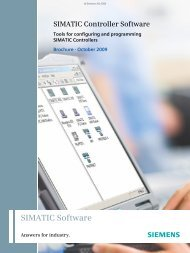 SIMATIC Controller Software – Tools for configuring and ... - Industry