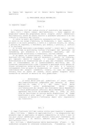 DOWNLOAD Legge dello Stato 11/12/2012 n. 220 - Fantini Cosmi