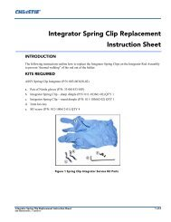 Integrator Spring Clip Replacement Instruction Sheet - Christie