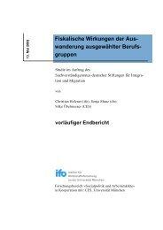 Fiskalische Wirkungen der Aus- wanderung ... - Klaus J. Bade