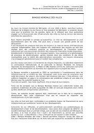 BANQUE MONDIALE DES VILLES - UCLG